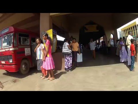 Bus Station, Matara, Sri Lanka video