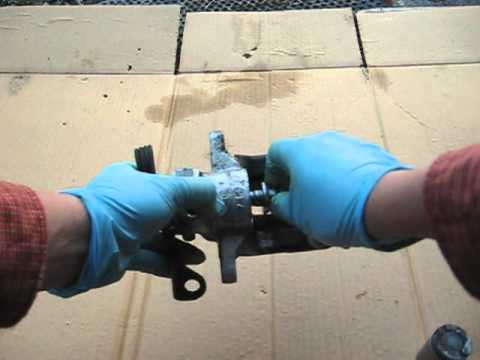 Rear Brake Job Inside The Rear Caliper On A Vw Audi