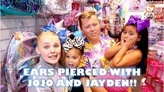 EARS PIERCED WITH JOJO AND JAYDEN!! DAY 117