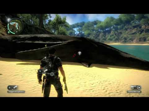 Just Cause 2: Beached Whale Easter Egg