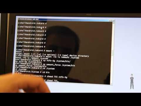 Tablet Samsung Galaxy Tab 10.1 3G. Acceso a memorias USB con formato NTFS utilizando módulos.