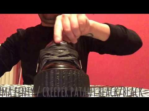 Puma fenty creeper wrinkled patent black