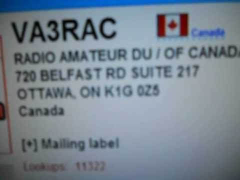 VA3RAC- RADIO AMATEUR DU / OF CANADA -OTAWA - 16:15 utc - 29-Dec-2012 - 20 meters band