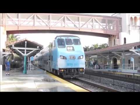 Tri- Rail trains at West Palm Beach station! 8/10/15
