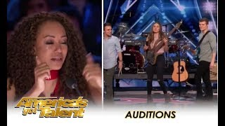 We Three Music Sibling Trio Tearful Tribute To Their Late Mom America 39 S Got Talent 2018