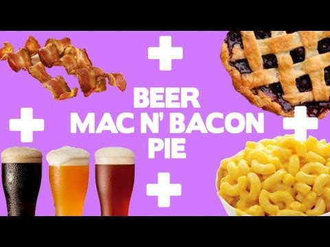 Beer Mac N' Bacon Pie Recipe - Food Mashups