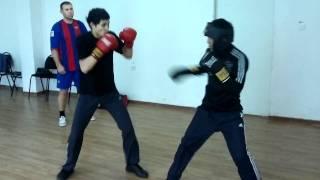 Бокс в казахской тюрьме. Нокаут в третьем раунде.
