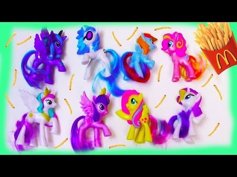 MLP McDonalds 2014 Happy Meal My Little Pony TOYS Review Set Opening
