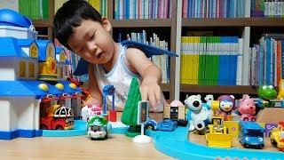 삼남매 로보카폴리 구조본부 놀이 | Robocar Poli Rescue Center Toys