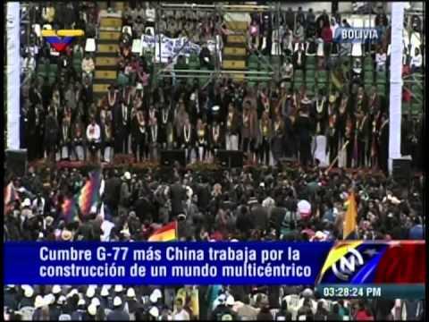 G-77: Discursos de Raúl Castro, Sánchez Cerén, Nicolás Maduro y Rafael Correa en Santa Cruz