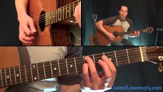 Old Love Unplugged Guitar Lesson - Eric Clapton - All Rhythm Guitar Parts