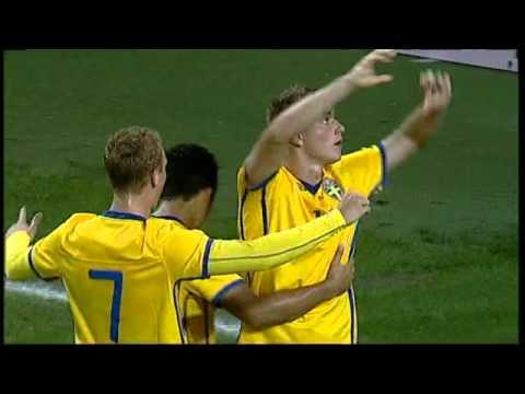 Sverige vinner EM-kvalmatchen mot Litauen med 4-0 efter mål av Rasmus Jönsson (2), John Guidetti och Samuel Armenteros.