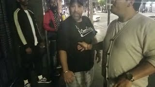 Angry Guy Tells Hampton Brandon To Get Off His Block (fight)