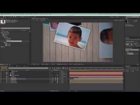 After Effects Tutorial - Throwing Photos 4/5