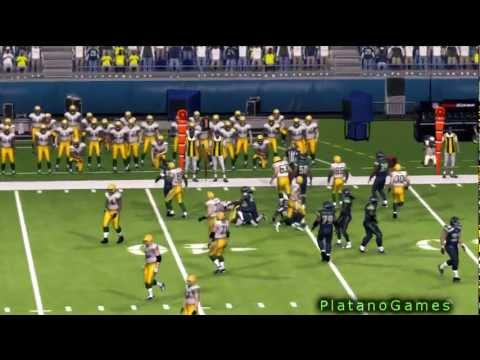 NFL MNF 2012 Wk 3 - Green Bay Packers (1-1) vs Seattle Seahawks (1-1) - 1st Half - Madden '13 - HD