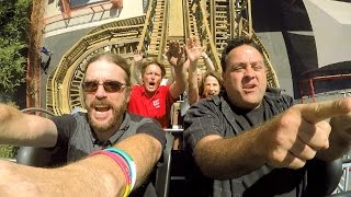 Switchback ridercam on-ride reverse HD POV @60fps ZDT's Amusement Park