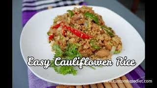 Keto Easy Cauliflower Rice - Keto Cauliflower Rice