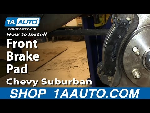 How To Install Replace Front Brake Pads 2000-06 Chevy Suburban Tahoe GMC Yukon