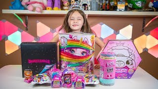 Happy Birthday Emily Unicorn Presents Toys Pikmi Pops Surprise Blind Bags for Girls Kinder Playtime