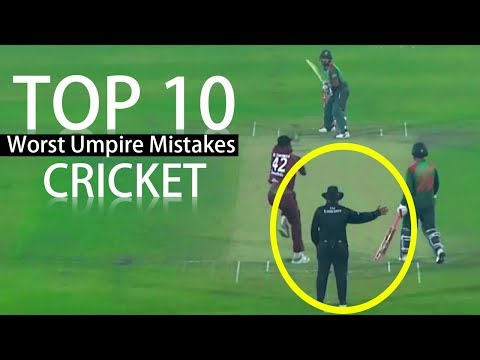TOP 10 Worst Umpire Mistakes In Cricket History