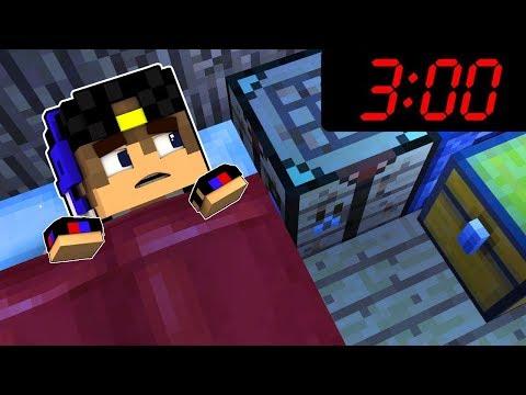 НЕ Играйте В Майнкрафт ПЕ в 300 ЧАСА НОЧИ! Выживание и Ужасы Видео Minecraft Pocket Edition