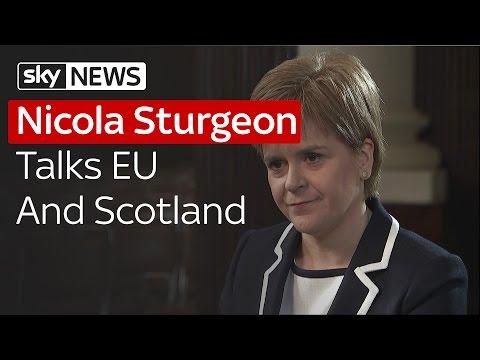 Nicola Sturgeon Talks EU Referendum And Scotland's View On Europe