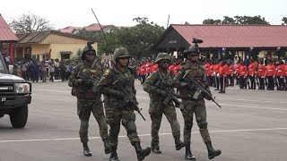 GHANA ARMED FORCES HISTORIC ALL-FEMALE PARADE TO CELEBRATE 60 YEARS FEMALE MILITARY SERVICE HELD