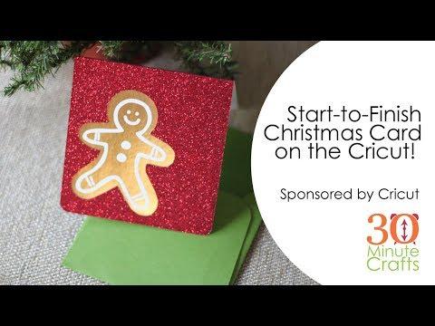 Рождественская открытка Gingerbread Man