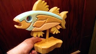 Scroll Saw segmentation Fish woodworking project (no cost)