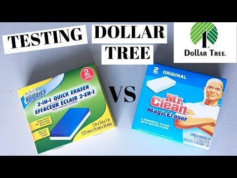 DOLLAR TREE CLEANING PRODUCT TEST   Magic Eraser Showdown   How Good Is It To The Real Thing?