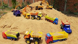 Build Blocks Toys For Kids Construction Vehicles With Two Baby Dolls For Children
