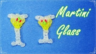 Rainbow Loom: Glass / Drink (Martini) Charm