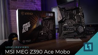MSI MEG Z390 Ace Motherboard for 8/9th gen Intel CPUs + Linux Test