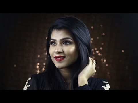Gold Eye And Red Lipstick || Eid 2017 Makeup Tutorial || Sweatproof And Long Lasting Makeup Tutorial