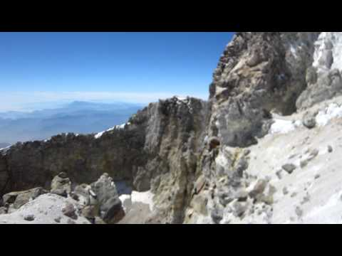 The crater of El Pico de Orizaba 18,405'