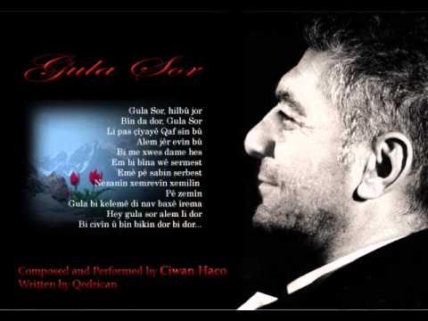 """""""Gula Sor"""" (""""Red Flower"""" in Kurdish) is a song by Ciwan Haco about the Kurdish lives lost to the wars and oppression in the Middle East, and in particular, Iran, Iraq, Syria and Turkey. Kurds..."""