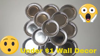 Home Decorate Idea   DIY Abstract Metallic Wall Decor Simple & Inexpensive Wall Decorating Idea 2018
