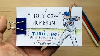 A flipbook tribute to the Chicago Cubs, Kyle Schwarber, and Harry Caray