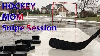 Hockey Mom Puck Handling Snipe Session ready for rematch