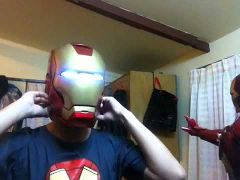 Iron Man Project All Suit#Review Iron Man Helmet Mark 7
