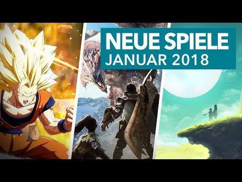 Neue Spiele für PS4, Xbox One, Switch & Co. - Januar 2018 in der Vorschau