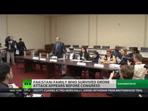Pakistani drone strike survivors testify before Congress