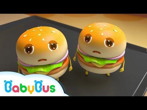 巨大ハンバーガー屋さん | お店屋さんごっこ&人気動画まとめ 連続再生 | 赤ちゃんが喜ぶアニメ | 動画 | BabyBus