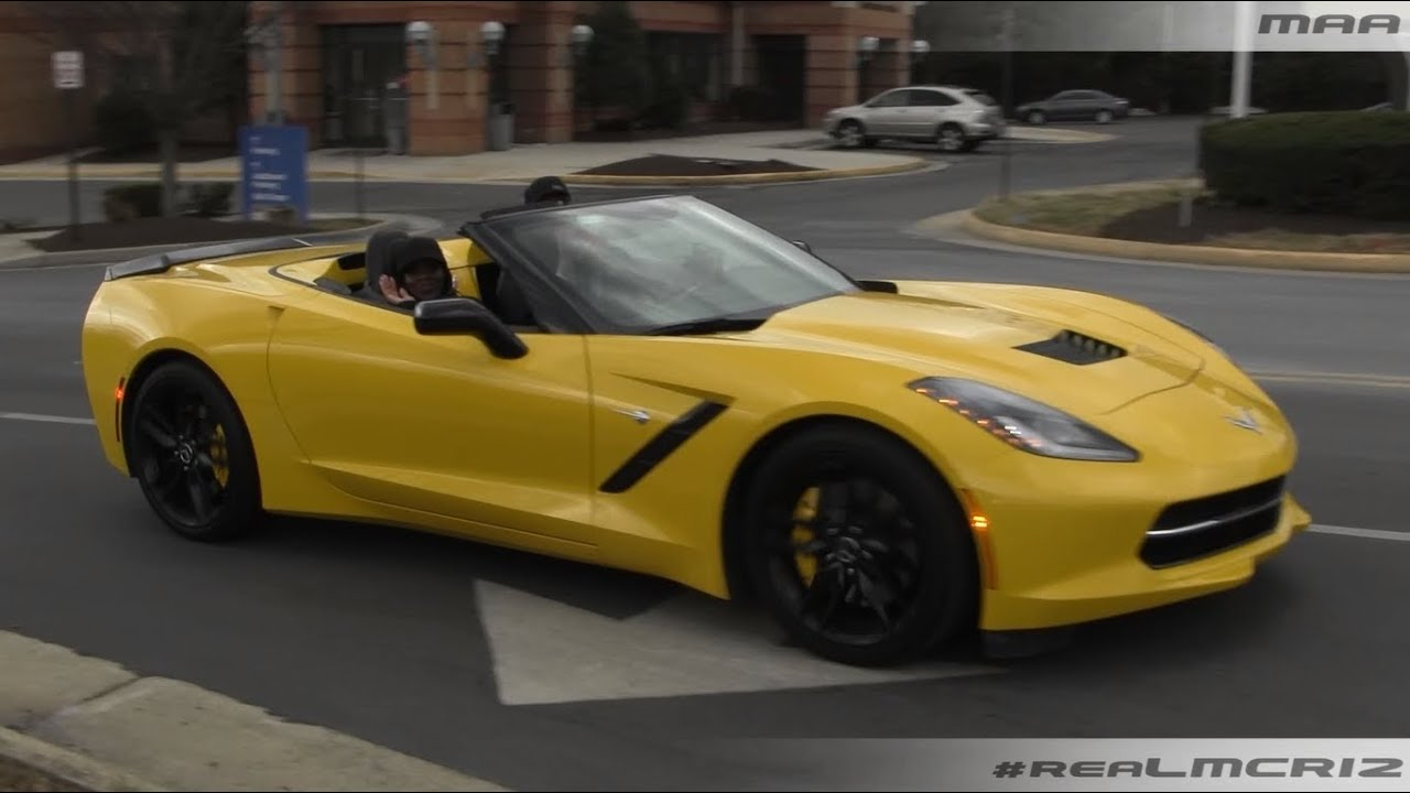 YELLOW Chevy Corvette C7 Stingray Convertible - YouTube