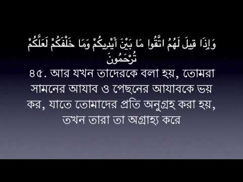 Sura Yasin -36 Mishary Al Afasy | Bangla Translation