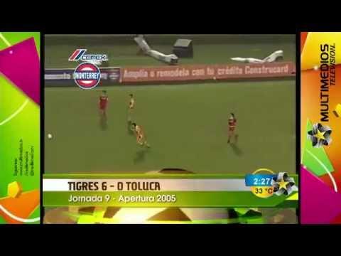 Recordamos un Tigres-Toluca del Apertura 2005, jornada 9, con una goleada de 6 por 0 a favor de los auriazules, con tres dobletes de Andrés Silvera, Walter Gaitán y Sixto Peralta Síguenos...