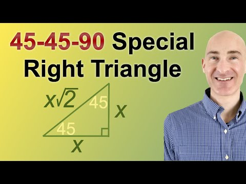 how to solve special right triangles 45 45 90