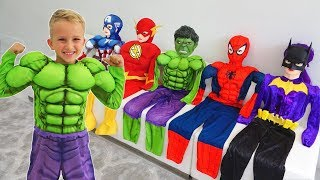 Vlad turns into a superheroes | Compilation video for children