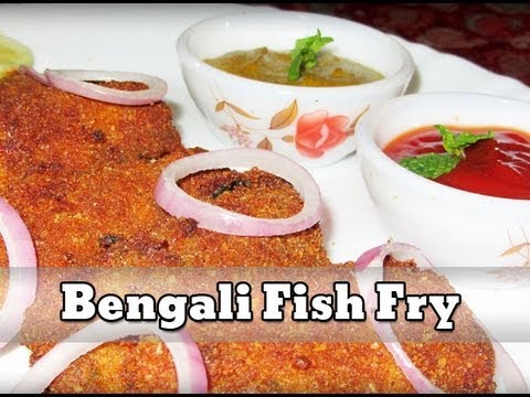 Fish fry bengali deep fried fish youtube for What goes good with fried fish