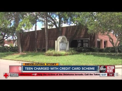 Teen charged with credit card scheme